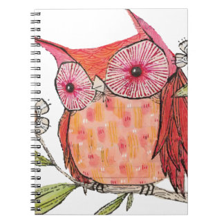 Summer colourful owl T shirt Notebook