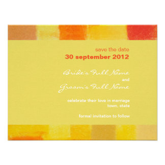 Summer confetti Wedding Save the Date Card Personalized Invitations