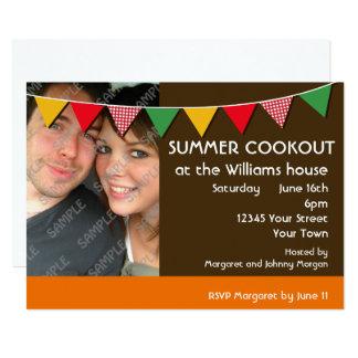 Summer Cookout Party 13 Cm X 18 Cm Invitation Card