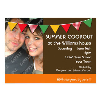 Summer Cookout Party Announcements