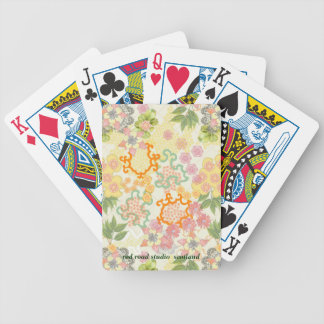 Summer Cottage Flowers Pattern Poker Cards
