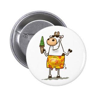 Summer Cow 6 Cm Round Badge