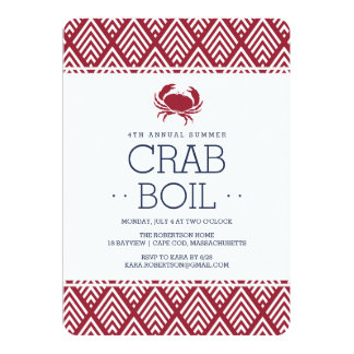 Summer Crab Boil Party Card