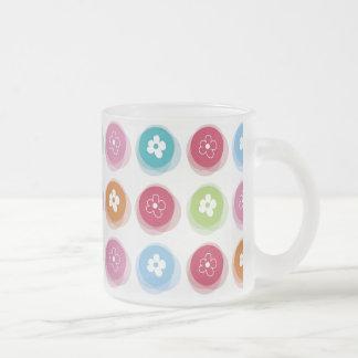 Summer Cute Daisy Flower Fuzzy Dots Colorful Fun Coffee Mugs