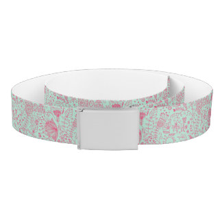 Summer cute floral pattern belt