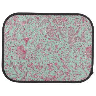 Summer cute floral pattern car mat