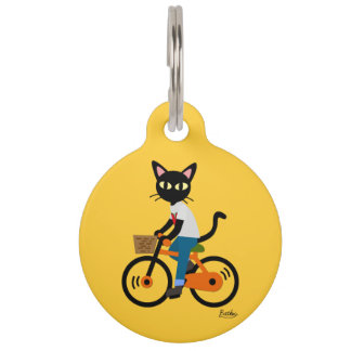 Summer Cycling Pet Tag