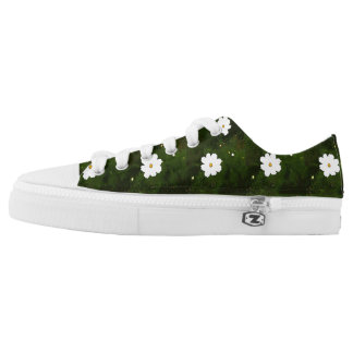 Summer Daisies Low Tops Printed Shoes