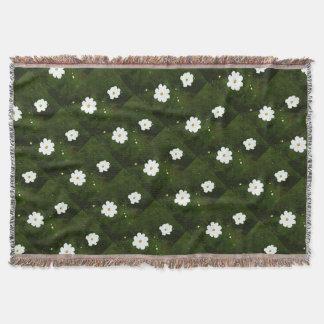 Summer Daisies Throw Blanket