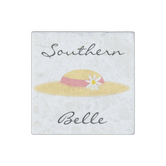 Summer Daisy Hat Southern Belle Cartoon Stone Magnet