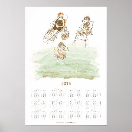 Summer Day At The Beach   2015 Poster Calendar