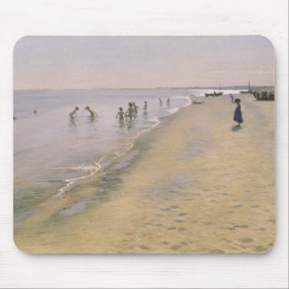 Summer Day at the South Beach of Skagen, 1884 Mouse Mat