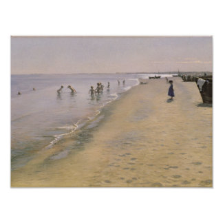 Summer Day at the South Beach of Skagen, 1884 Poster