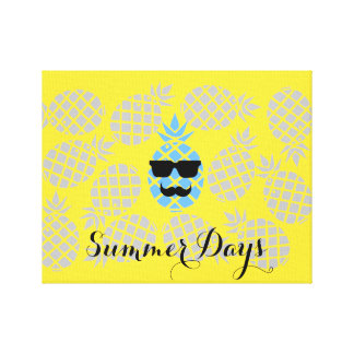 """Summer Days"" Pineapple Canvas"