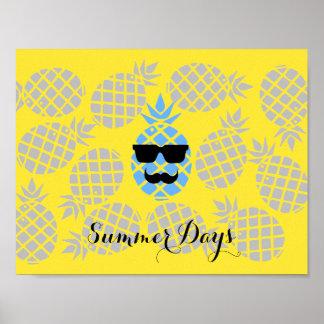 """Summer Days"" Pineapple Poster"