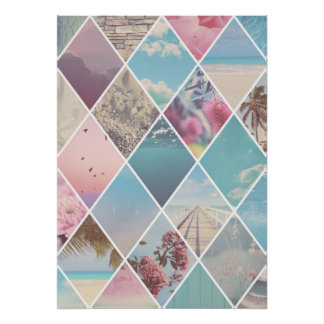 Summer Diamond Pattern Poster