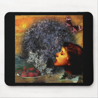 Summer Digital Collage by A E Ivey Mousepad