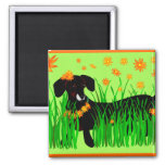 Summer Doxie, magnet