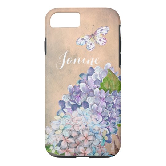 Summer Dream Lilac-Blue Hydrangea Blossom iPhone 7 Case