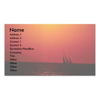 Summer dreams, sailing off the coast of southern C Pack Of Standard Business Cards