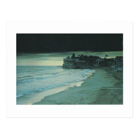 Summer Dusk at Sitges Postcard