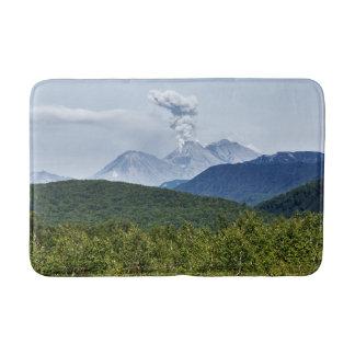 Summer eruption active volcano bath mats