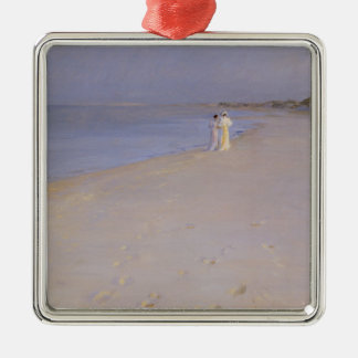 Summer evening at the South Beach, Skagen, 1893 Christmas Ornament