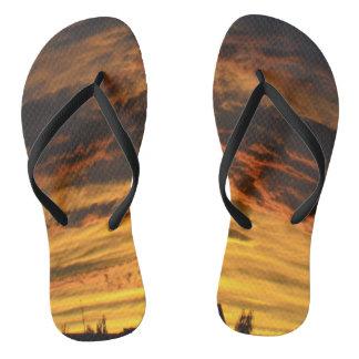 Summer Evening Flip Flops