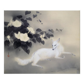 Summer Evening Kansetsu Fox Poster