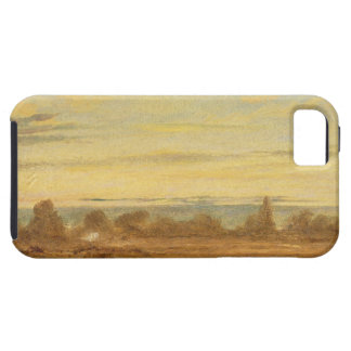 Summer - Evening Landscape (oil on canvas) Case For The iPhone 5
