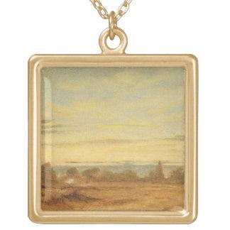 Summer - Evening Landscape (oil on canvas) Necklaces
