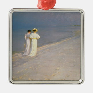 Summer Evening on the Skagen Southern Beach Christmas Ornament