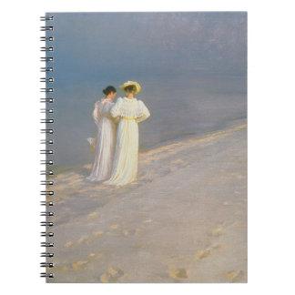 Summer Evening on the Skagen Southern Beach Notebooks