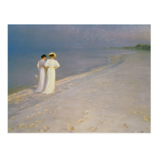 Summer Evening on the Skagen Southern Beach Postcard