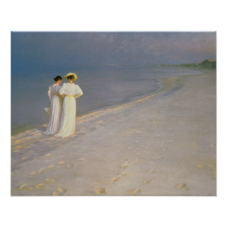 Summer Evening on the Skagen Southern Beach Poster