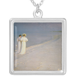 Summer Evening on the Skagen Southern Beach Silver Plated Necklace