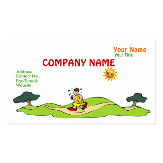 Summer Exercise Funny Business Card