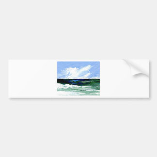 Summer Fantasy Ocean Art Seascape Sky Bumper Sticker