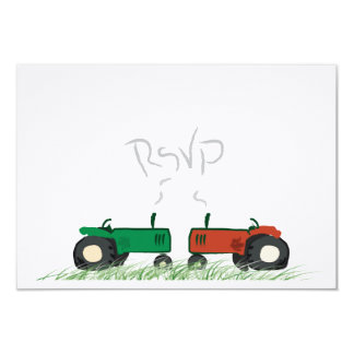 Summer Farm Wedding RSVP Card 9 Cm X 13 Cm Invitation Card