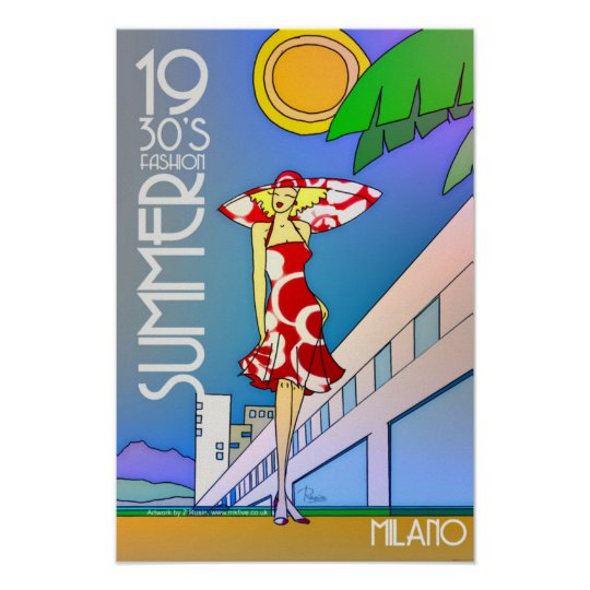Summer fashion Milano poster