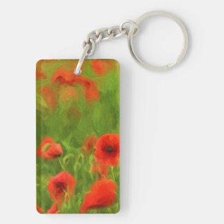 Summer Feelings - wonderful poppy flowers II Double-Sided Rectangular Acrylic Key Ring