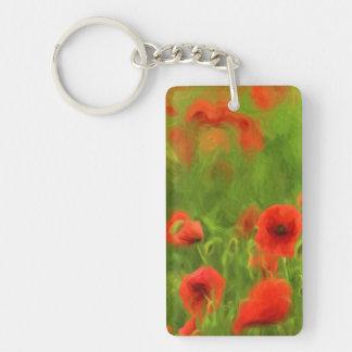 Summer Feelings - wonderful poppy flowers II Single-Sided Rectangular Acrylic Key Ring