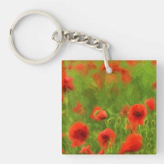 Summer Feelings - wonderful poppy flowers II Single-Sided Square Acrylic Key Ring