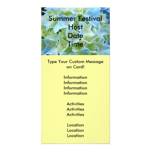 Summer Festival Announcement Cards Events Floral Photo Greeting Card