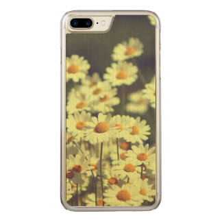 Summer field with white daisy carved iPhone 8 plus/7 plus case