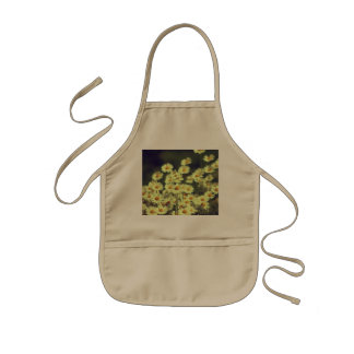 Summer field with white daisy kids apron