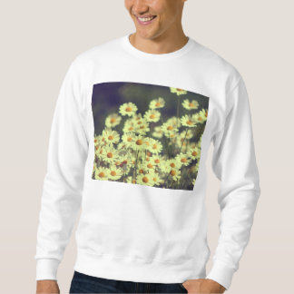 Summer field with white daisy sweatshirt