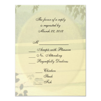 Summer Fields Wedding RSVP with Menu 11 Cm X 14 Cm Invitation Card