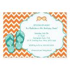 Summer Flip Flop Birthday Party Invite