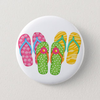 Summer Flip Flops 6 Cm Round Badge